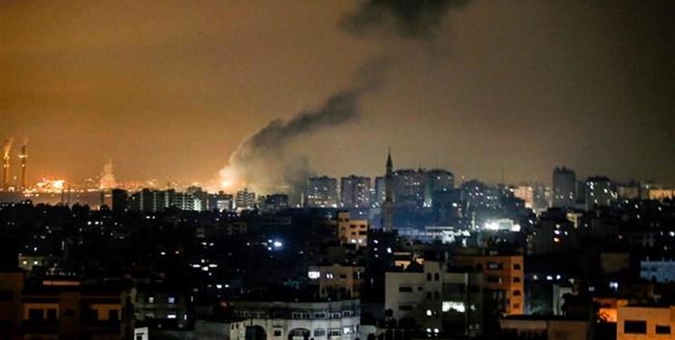 حمله توپخانهای و هوایی رژیمصهیونیستی به نوار غزه