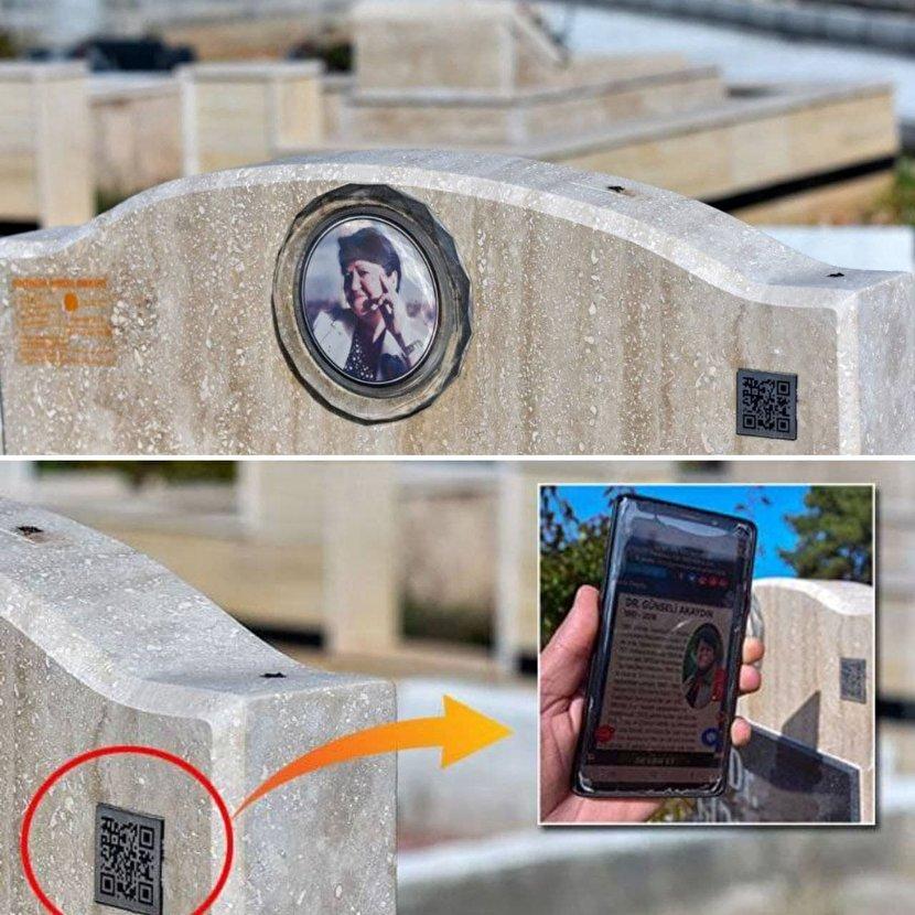 نصب کد کیوآر روی سنگ قبرهای ترکیه