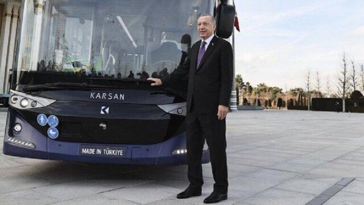 اردوغان با اتوبوس بدون راننده به جلسه دولت رفت
