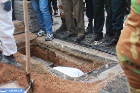 تصاویر اختصاصی تابناک از خاکسپاری علی انصاریان