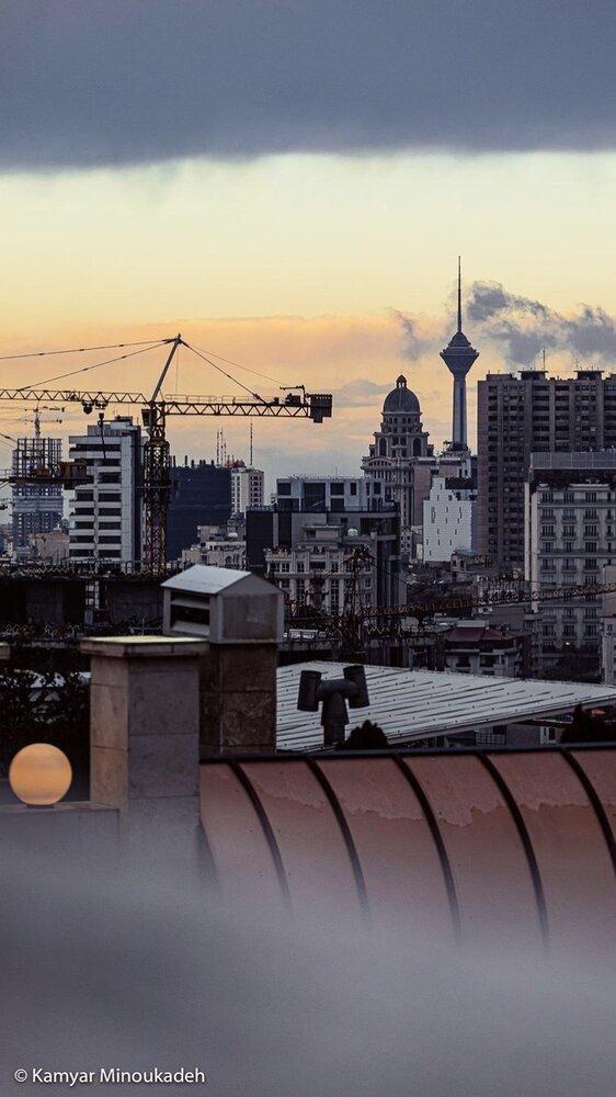 عکسی از هوای تمیز تهران بعد از مدت ها