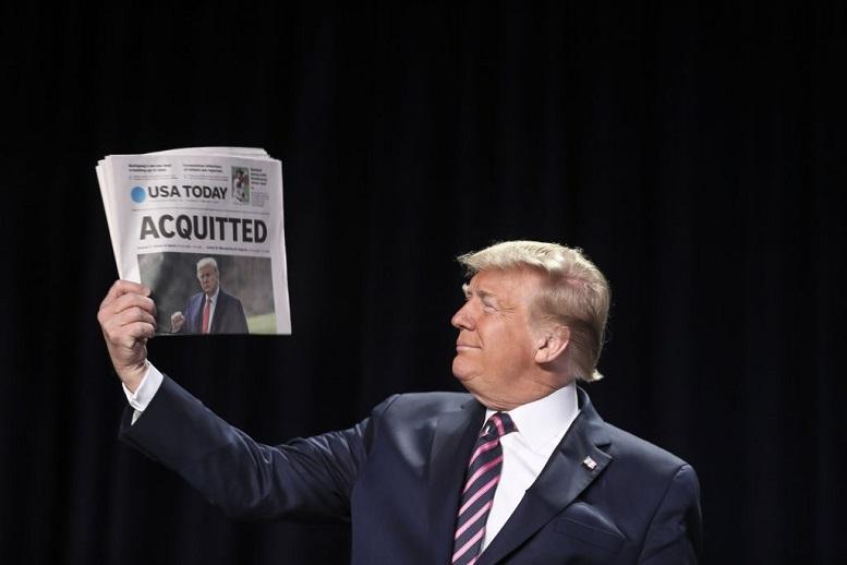 واکنش ترامپ به تبرئه خود