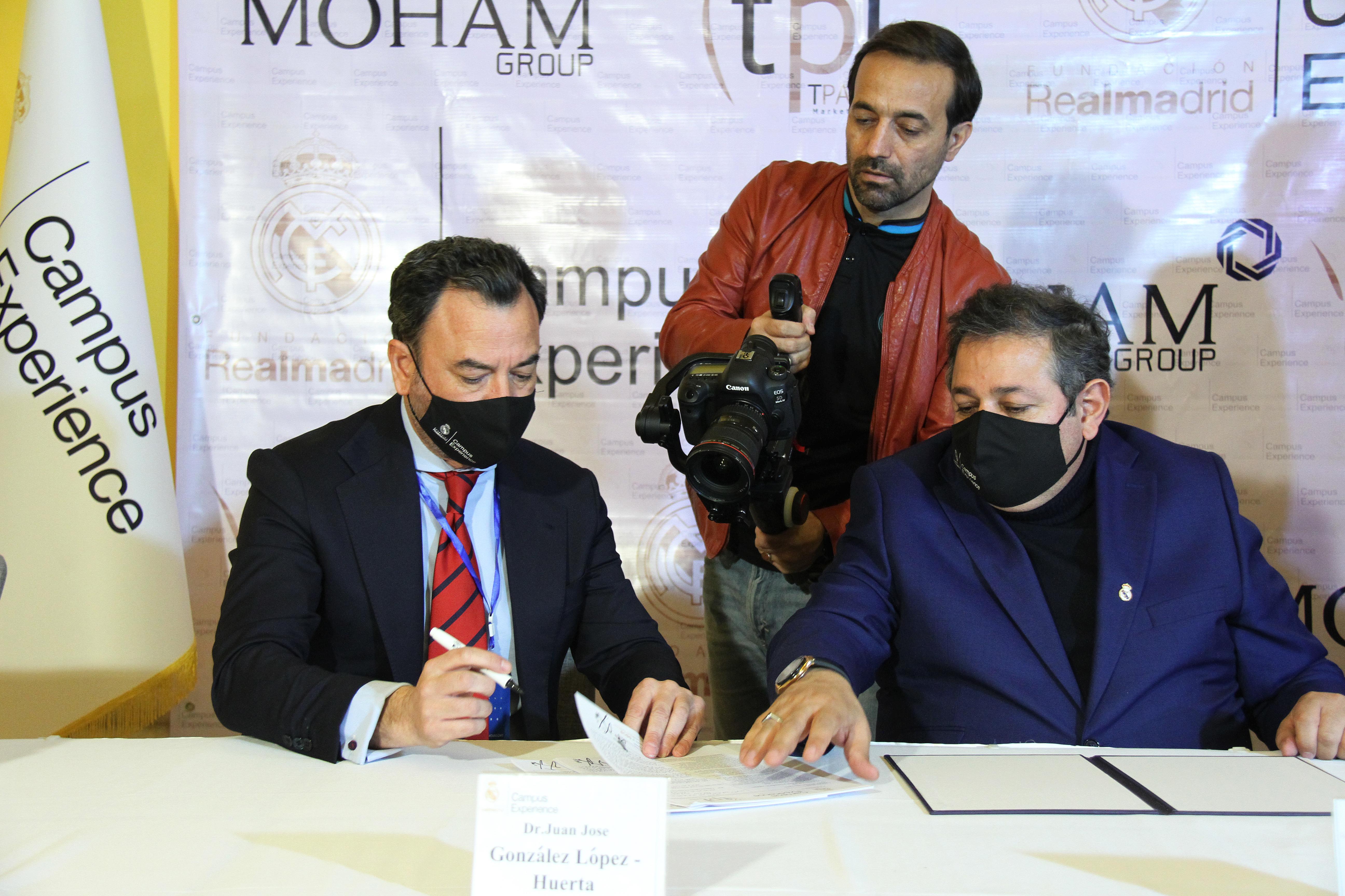 مراسم امضای تفاهمنامه باشگاه سایپا با رئال مادريد