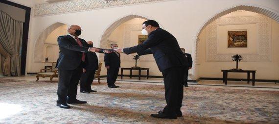 العراق | صالح لعدد من السفراء: ندعم العمل الدولي المشترك لمواجهة التحديات وتخفيف توترات المنطقة