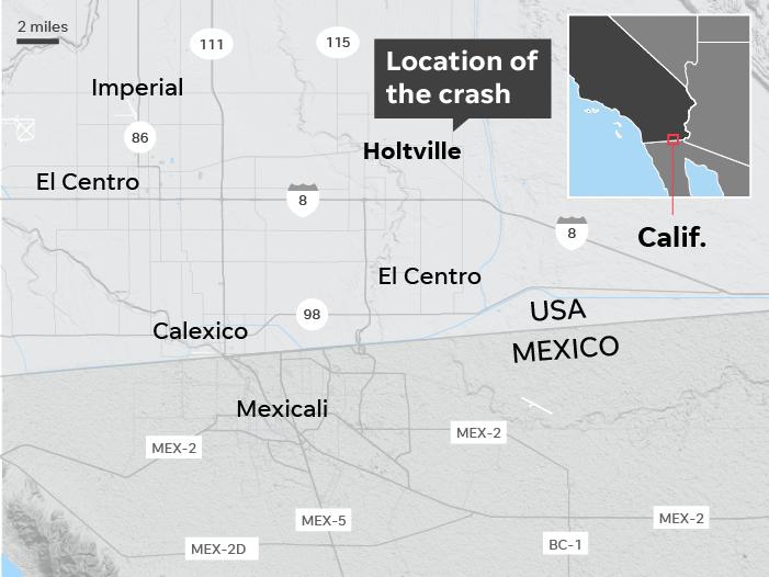 ۱۵ کشته در یک تصادف در ایالت کالیفرنیا