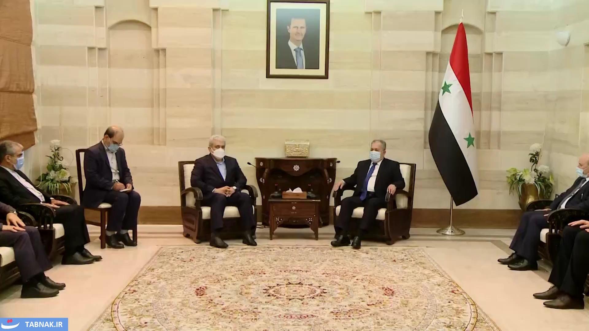 سوريا | عرنوس يبحث مع معاون الرئيس الإيراني سبل التعاون العلمي