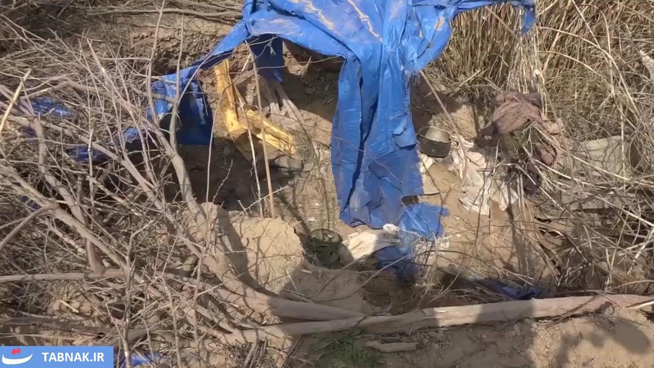 العراق | اللواء 16 بالحشد الشعبي يعثر على 3 مضافات تحتوي مواد لوجستية وطبية لداعش شرق صلاح الدين