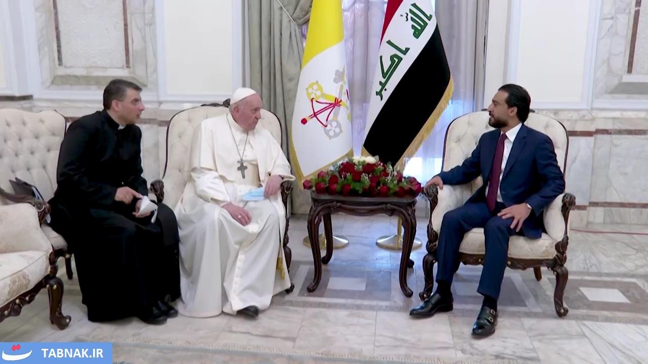 العراق | رئيس البرلمان يرحب ببابا الفاتيكان في بلاد الرافدين