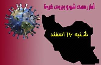 آخرین آمار کرونا در ایران تا شانزدهم اسفند ۹۹/ فوت ۸۲ بیمار در شبانه روز گذشته در کشور
