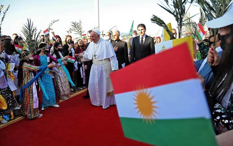 استقبال از پاپ در اربیل کردستان عراق