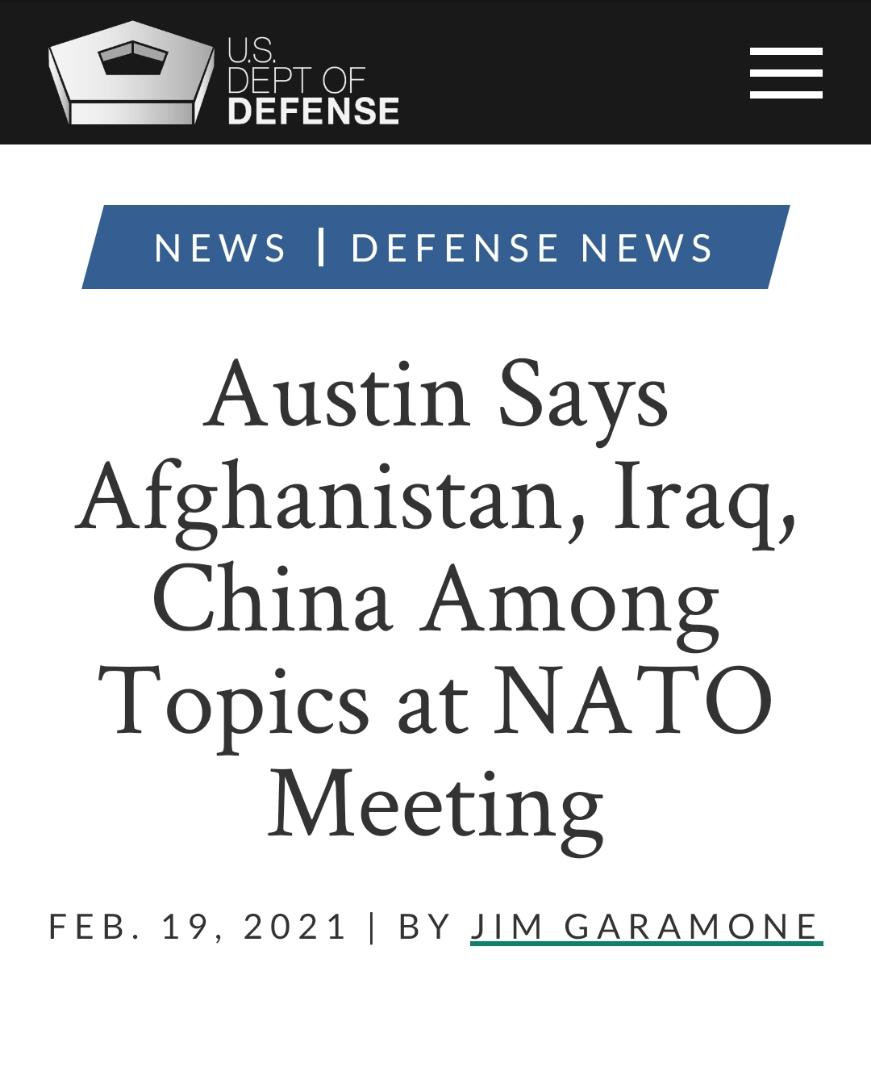 توافق رهبران ناتو و اتحادیه اروپا بر اتحاد مقابل چین و روسیه| موضع گیری جدید مشاور امنیت ملی کاخ سفید درباره راه حل دیپلماتیک با ایران| هشدار آمریکا به چین نسبت به استفاده از زور در دریای چین جنوبی| درگیری مسلحانه در پایتخت سومالی