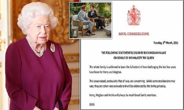 واکنش ملکه انگلیس به اظهارات مگان: متاسفیم!