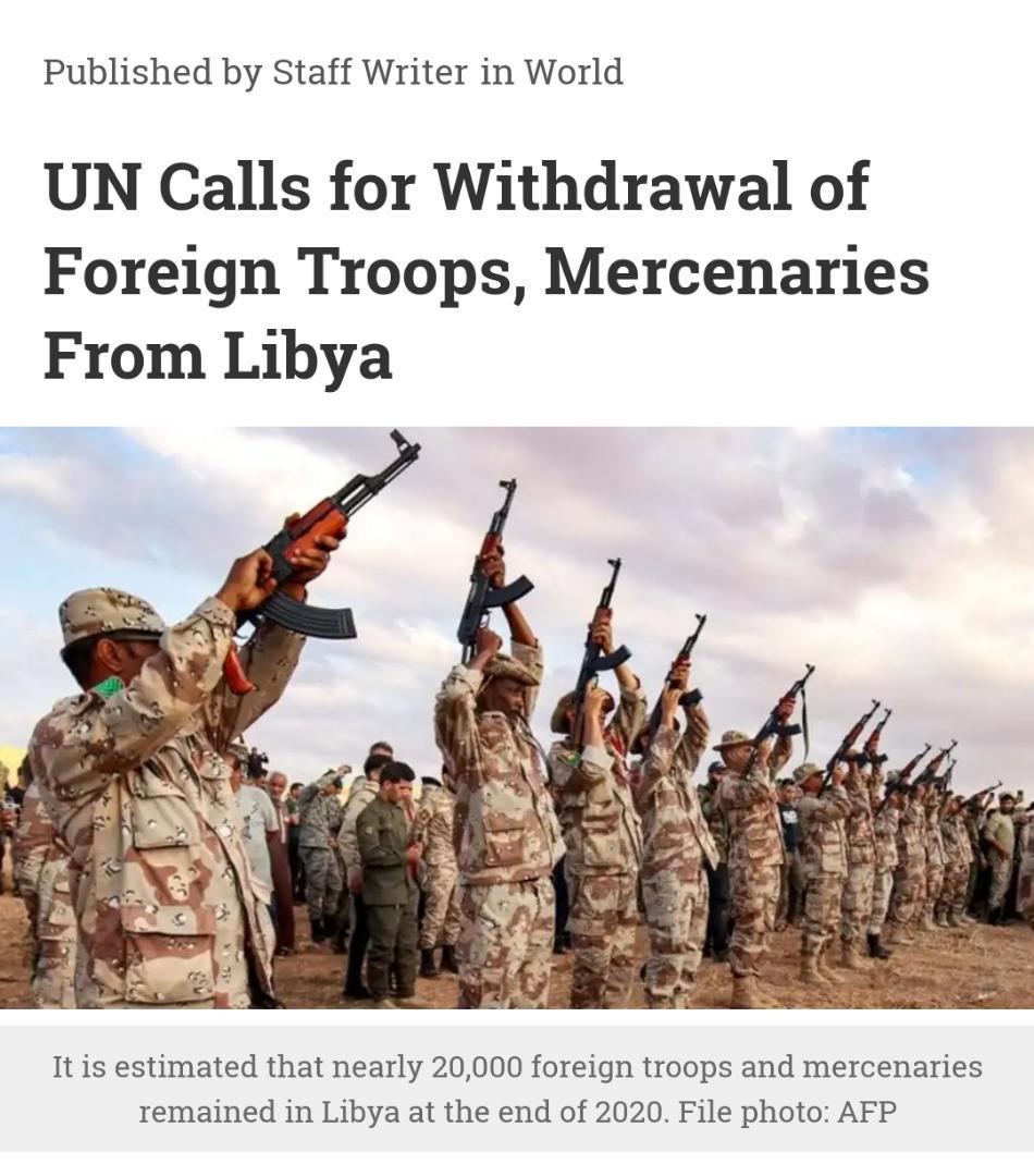 درخواست شورای امنیت برای خروج فوری نیروهای خارجی از لیبی| گزارش سازمان ملل درباره گرسنگی حاد میلیون ها انسان در جهان| اعلام عزل و نصب های جدید در دربار سعودی| کاهش شدید مبادلات تجاری بریتانیا-اتحادیه اروپا
