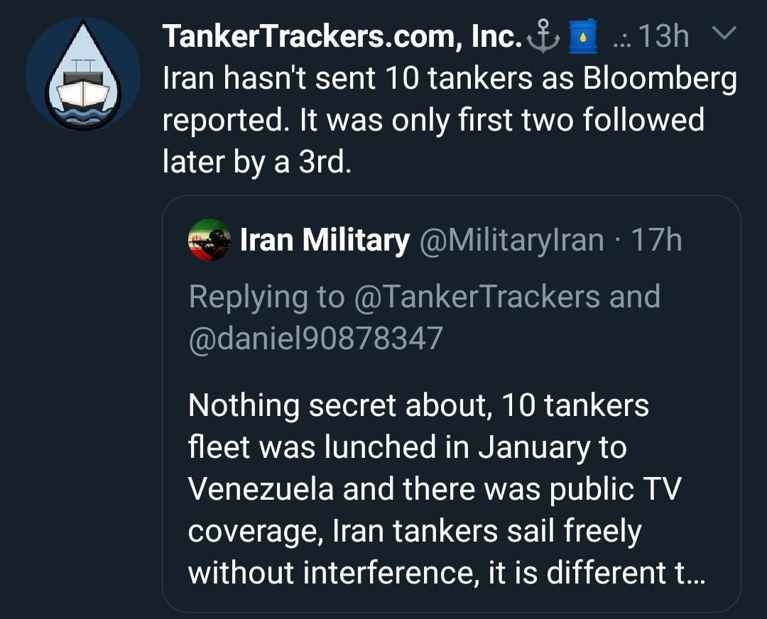 تقابل جنگندههای تایوان با هواپیماهای نظامی چین  ارسال سومین محموله بنزین ایران به ونزوئلا  اعلام آمادگی روسیه برای همکاری با آمریکا درباره واکسن کرونا  اعلام وضعیت فاجعه ملی در آمریکا