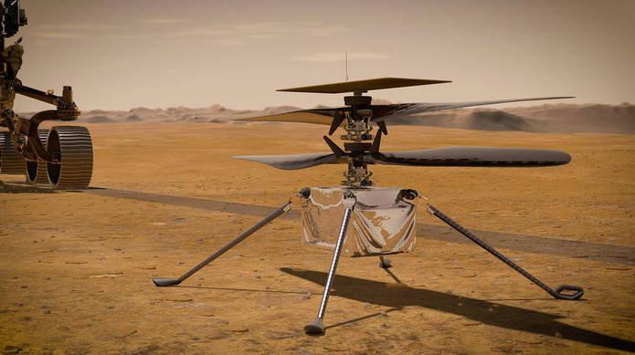 پرواز اولین بالگرد در آسمان مریخ چگونه است؟+فیلم