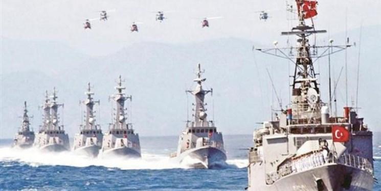 رزمایش بزرگ نیروی دریایی ترکیه در اژه و مدیترانه