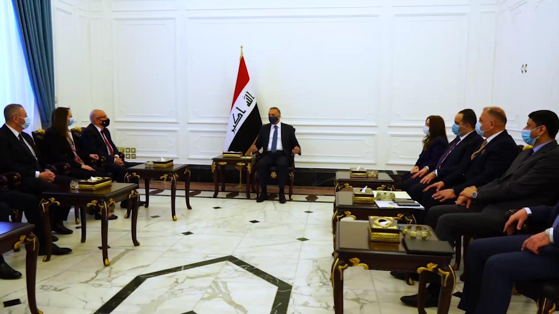 العراق | الكاظمي يؤكد لوفد أردني أهمية تعزيز التعاون وتطبيق الاتفاقيات بين بغداد وعمان