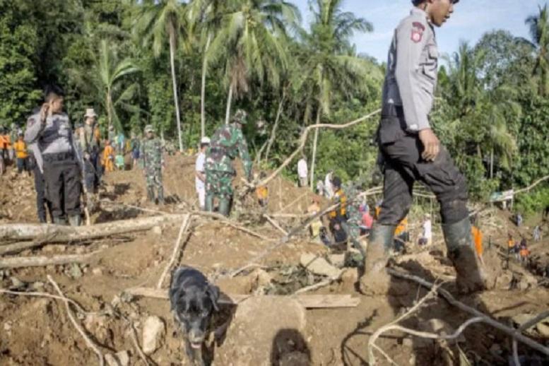 رانش زمین در اندونزی: ۵ تن کشته و ۷۰ تن ناپدید