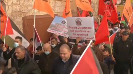 فلسطين المحتلة | مسيرات في مدينة الخليل في ذكرى مجزرة الحرم الإبراهيمي قبل 27 عاماً