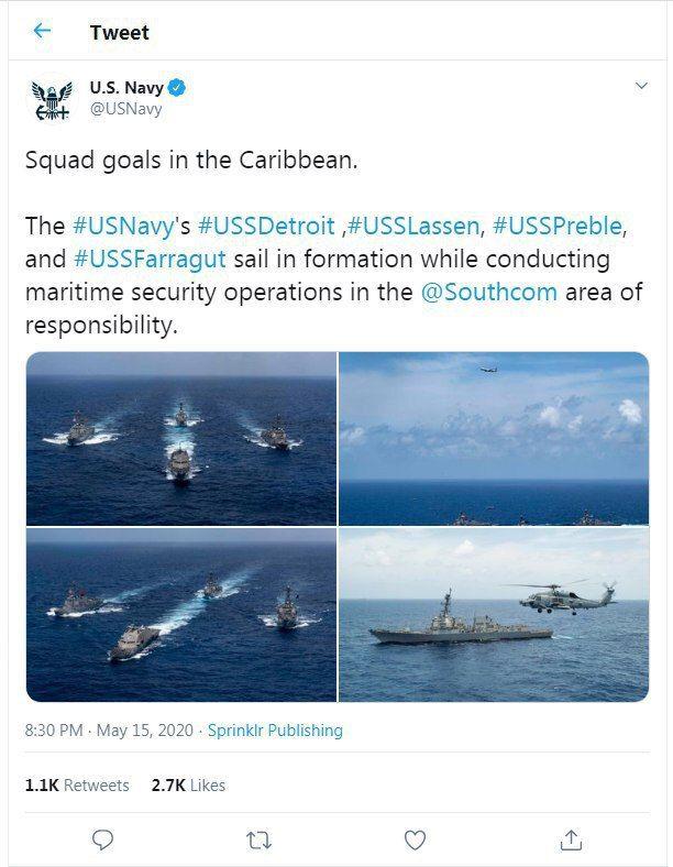 درگیری جدیدی میان ایران و آمریکا در دریای کارائیب رخ خوهد داد؟