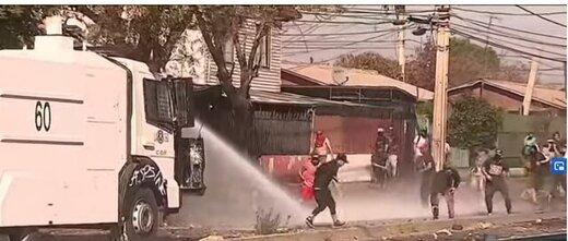 مردم شیلی، معترض به قرنطینه