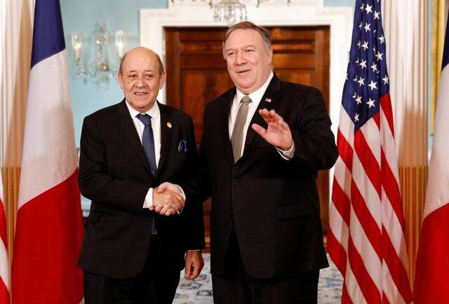 گفتوگوی وزرای خارجه فرانسه و آمریکا درباره ایران