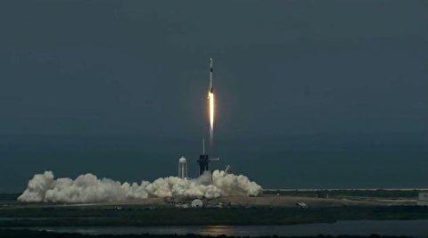 پرتاب فضاپیمای اسپیس اکس به فضا