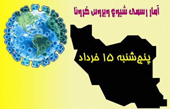 آخرین آمار کرونا تا پانزدهم خرداد/ ۳۵۷۴ مبتلای جدید شناسایی شدند