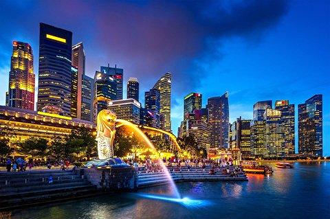 سنگاپور از فراز آسمان