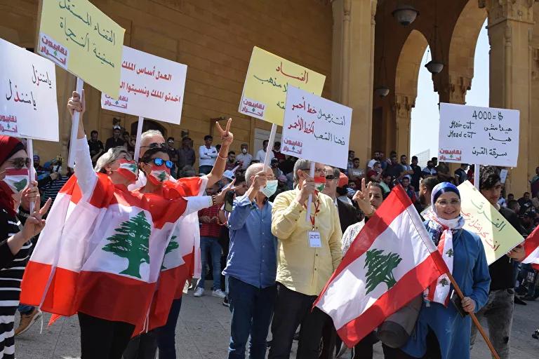 معترضان لبنانی خواهان برگزاری انتخابات زودهنگام شدند