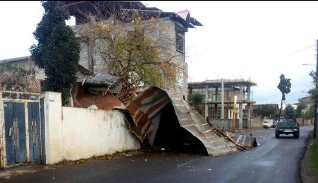 تخریب ۱۵ واحد مسکونی در آمل بر اثر طوفان