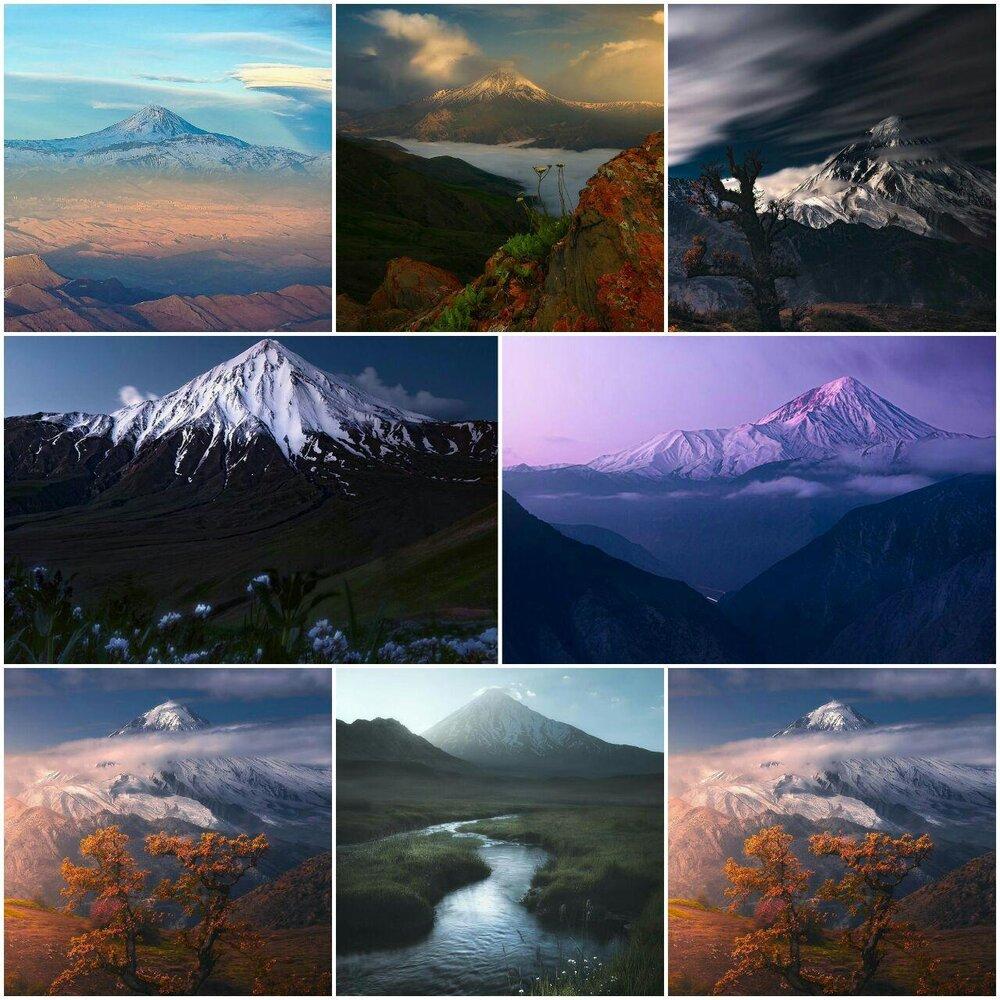 تصاویر دیدنی از قله باشکوه دماوند