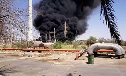 انفجار ترانس در نیروگاه زرگان