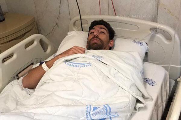 مهاجم استقلال از بیمارستان مرخص شد