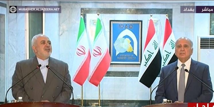 ظریف: تروریسم را جوانان ایرانی و عراق با یکدیگر شکست دادند/فواد حسین: عراق به دنبال روابط متوازن با کشورهای همسایه است