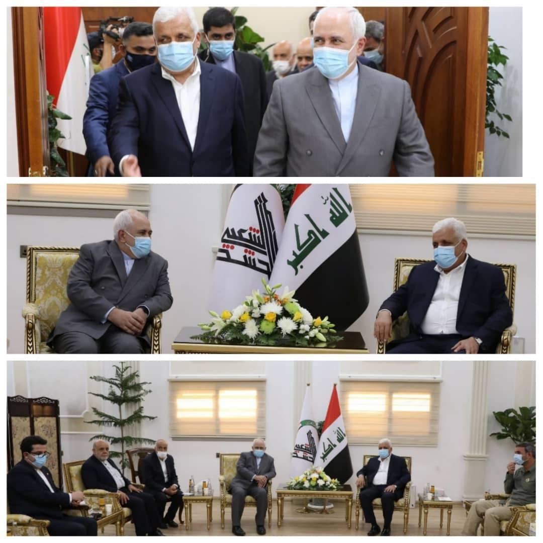 دیدار ظریف و رئیس حشد الشعبی عراق