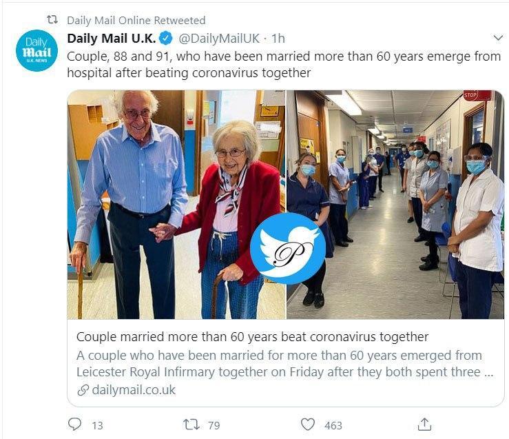 شکست کرونا توسط یک زوج ۸۸ و ۹۱ ساله!