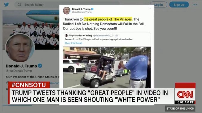 ترامپ مجبور به حذف یک توئیت نژادپرستانه شد