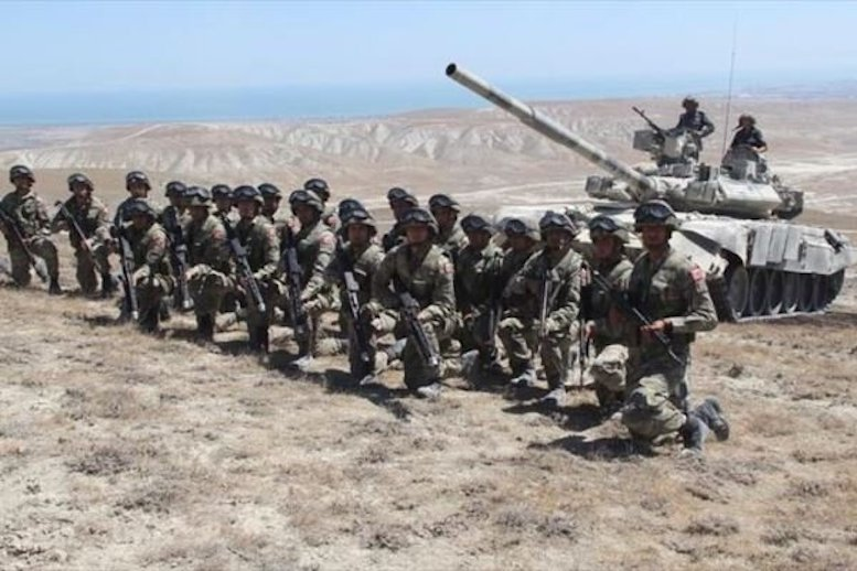مانور نظامی مشترک ترکیه- آذربایجان