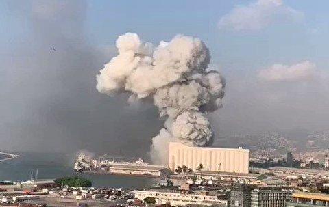 انفجار عظیم در بندر بیروت