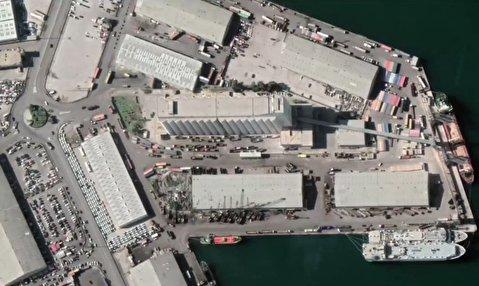 بندر بیروت قبل و بعد از انفجار عظیم