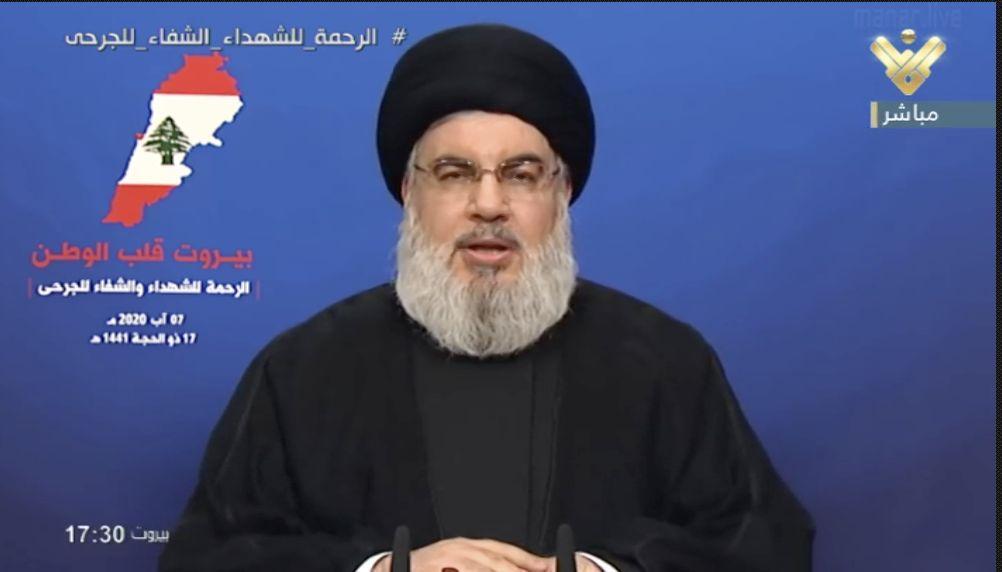 آغاز سخنرانی سید حسن نصرالله در مورد تحولات لبنان