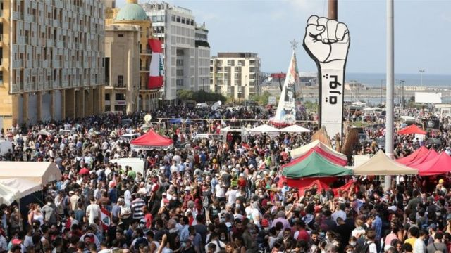 وقوع اعتراضات خشونت بار در لبنان/ ورود معترضان به ساختمان وزارت خارجه
