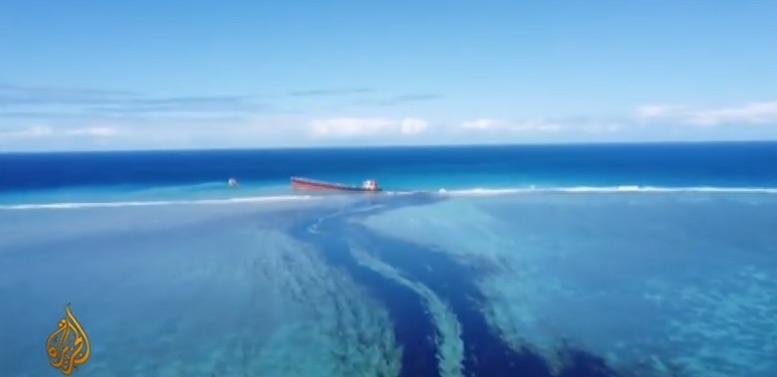 وضعیت فوق العاده به علت لکه نفتی عظیم موریس