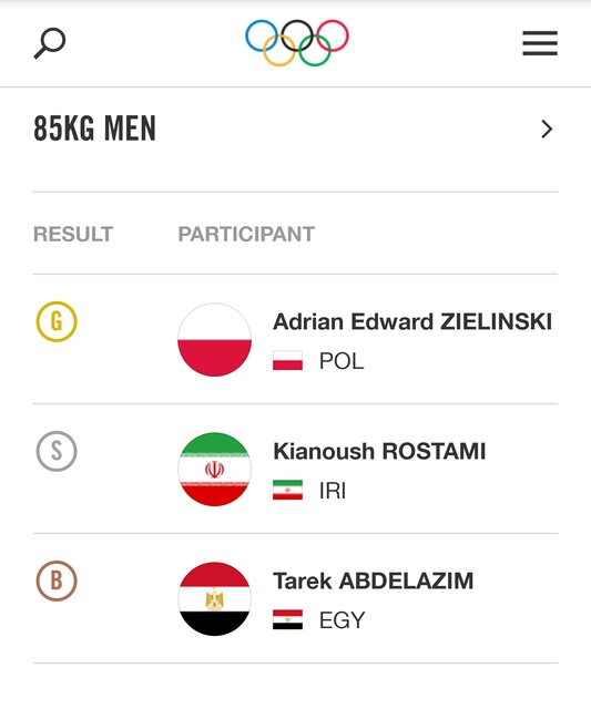 کیانوش رستمی باید مدال برنز المپیک را پس دهد