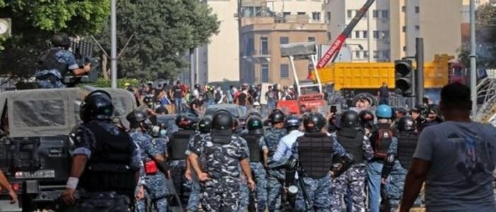 درگیری و اغتشاش در ورودی میدان پارلمان لبنان