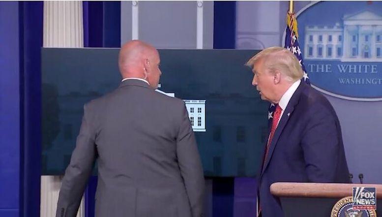 تیراندازی در اطراف کاخسفید و قطع کنفرانس خبری ترامپ