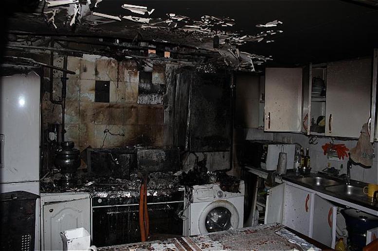 اتصال هود، آشپزخانه را به آتش کشید