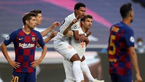 گزیده بازی بایرن مونیخ - بارسلونا
