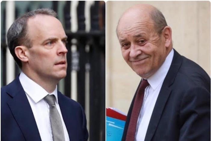 وزرای خارجه انگلیس و فرانسه درباره ایران گفتگو کردند
